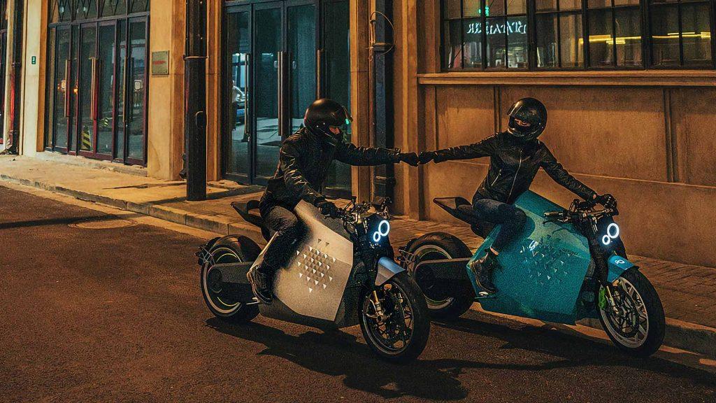 two riders enjoying the DC100, a new electric bike from Davinci Tech