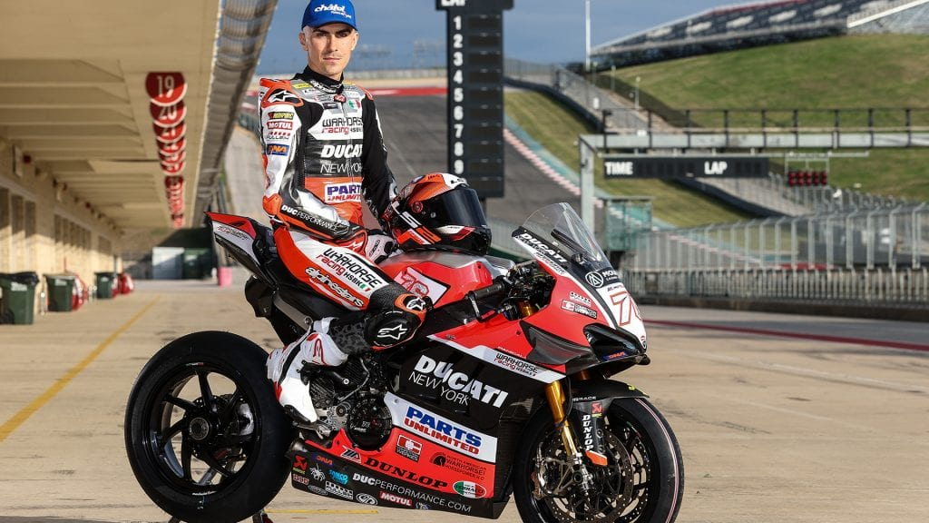 Loris Baz on his Ducati machine