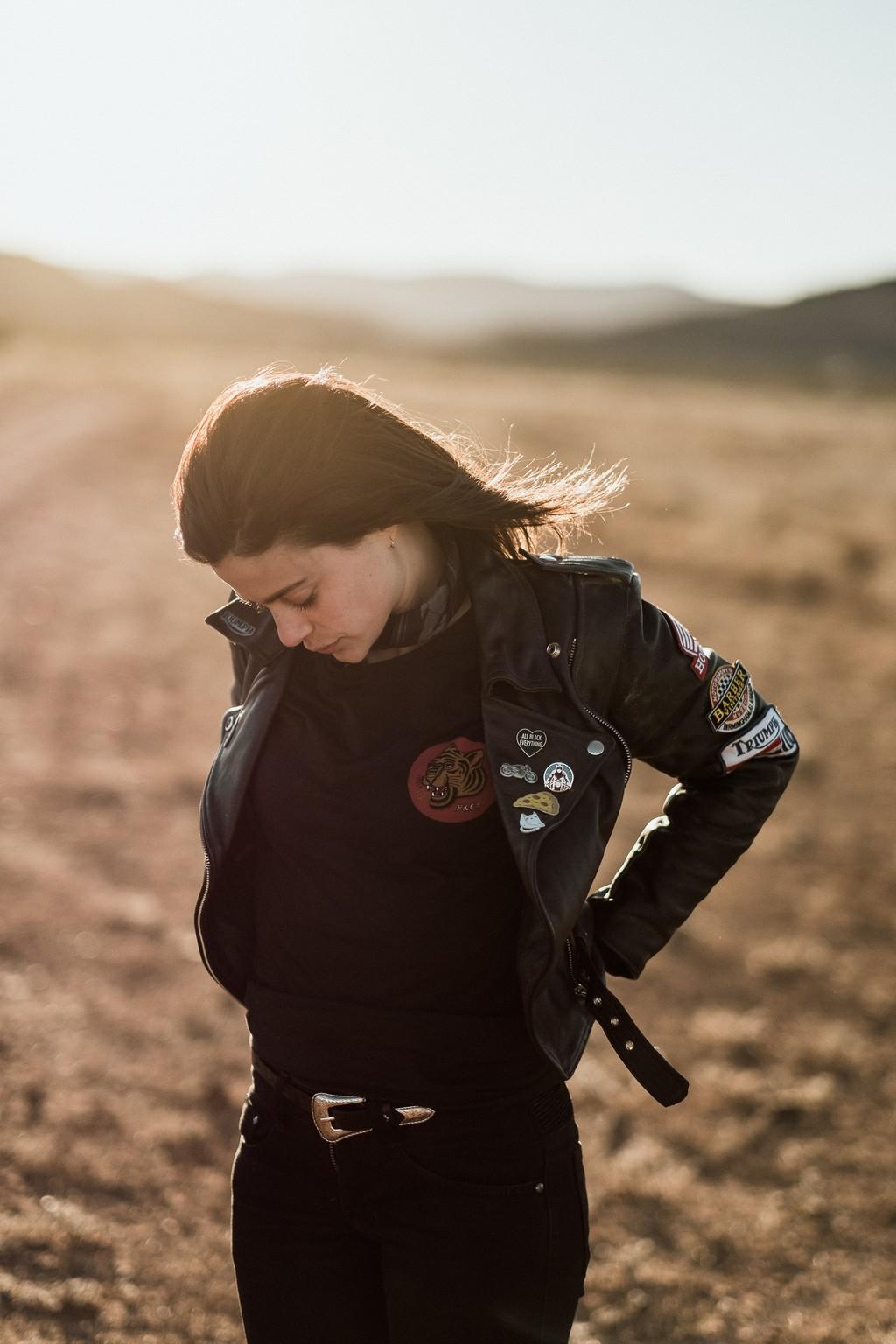 Katie Adbilla at dusk in a Tasmanian field