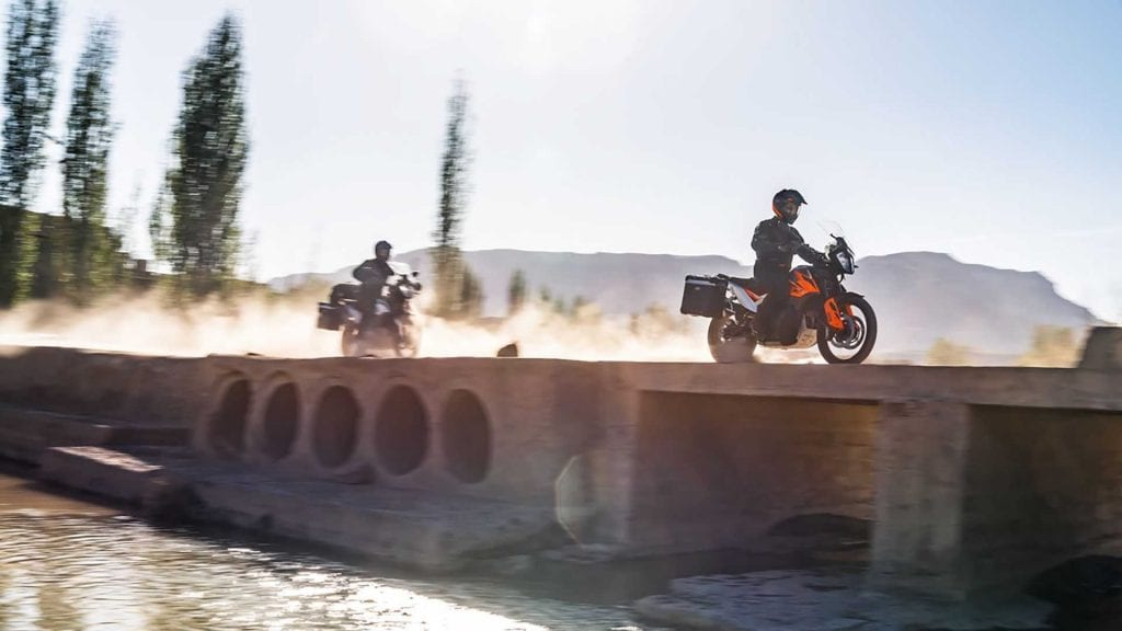 A pair of riders registered for the 2021 KTM World Adventure Week