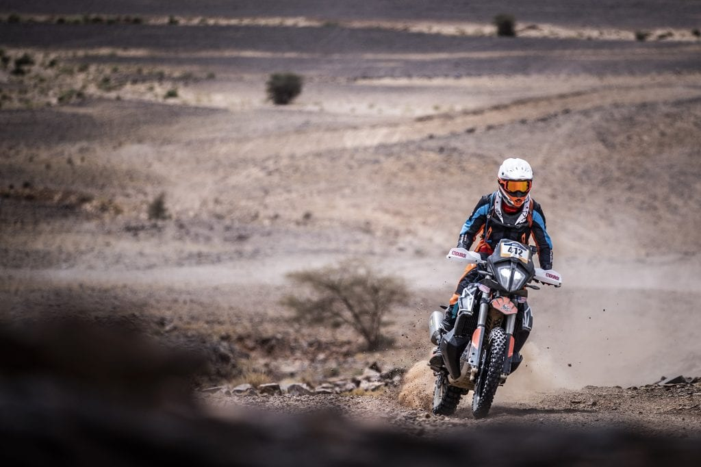 A rider participating in the 2021 KTM World Adventure Week