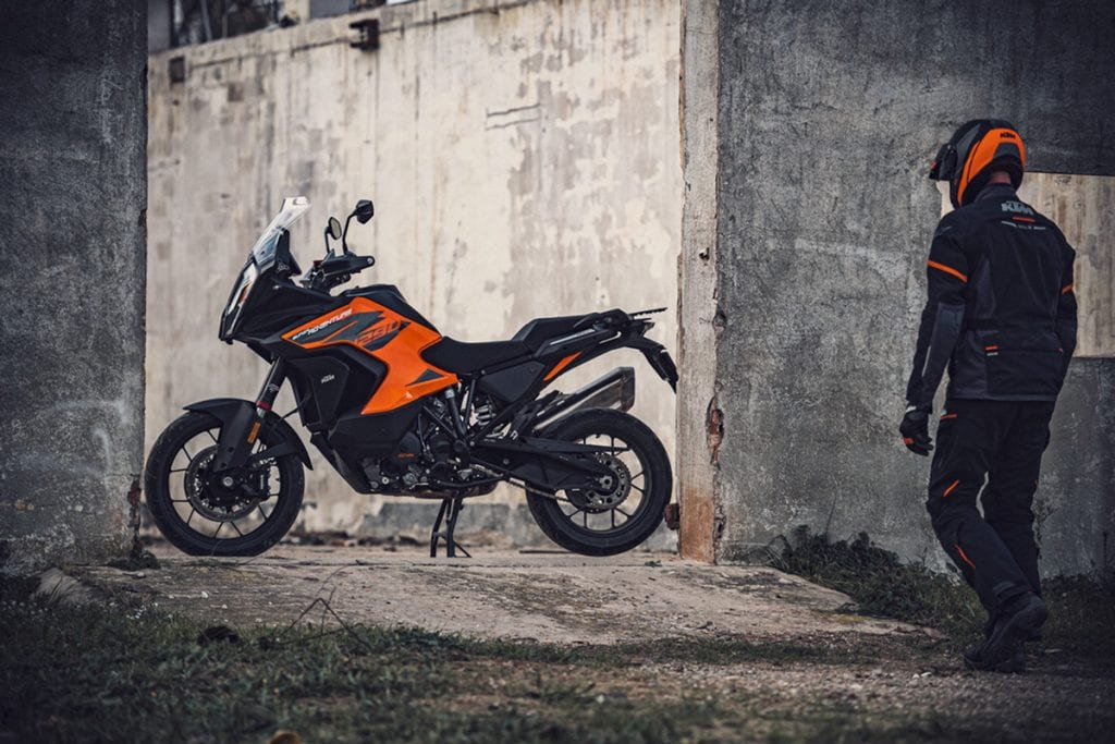 The KTM 1290 Adventure S that was used as a prize for the 2021 World Adventure Week