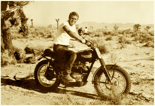 """Steve McQueen's 1963 Triumph Bonnveille """"Desert Sled"""" smart desert"""