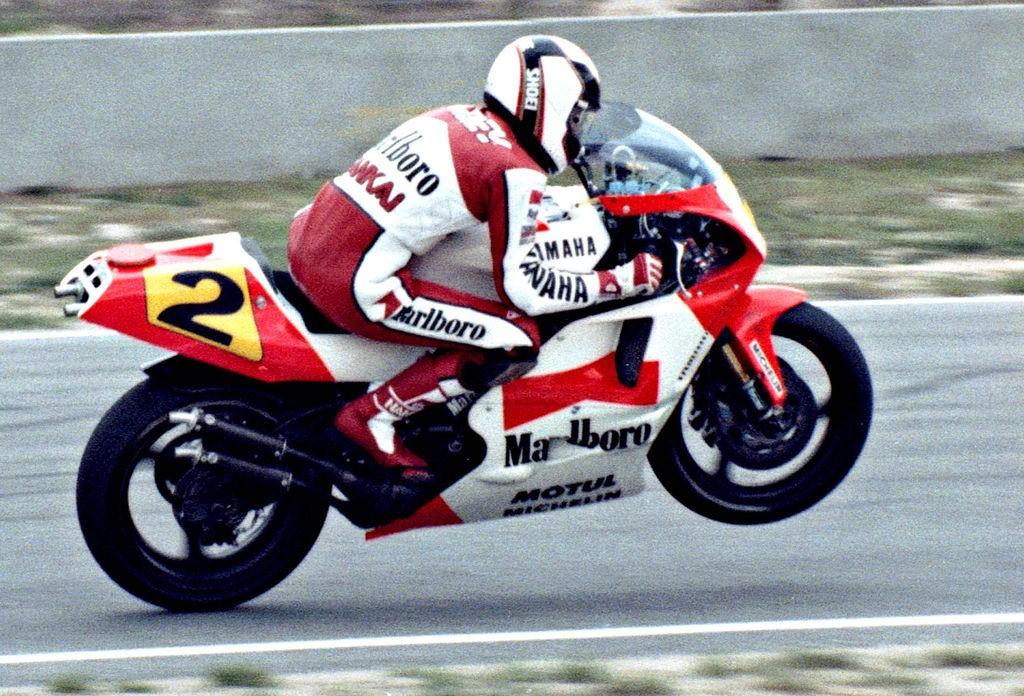 Waine Rainey in 1989, racing at Hockenheim