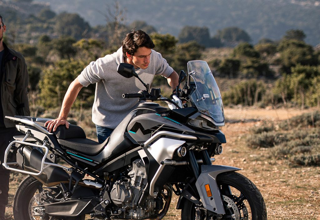 A view of the CFMoto 800 MT