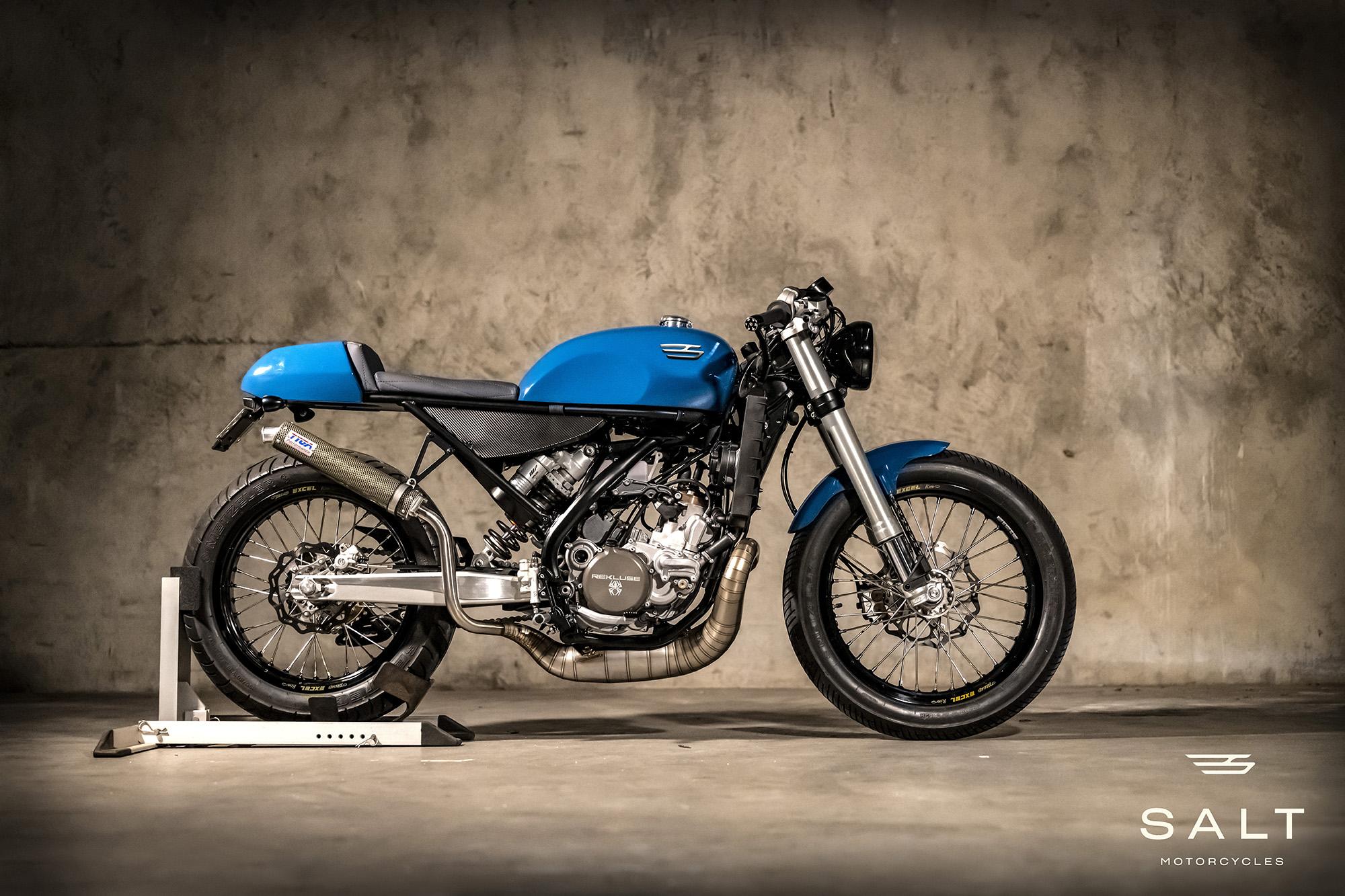 Salt two-stroke motorcycle