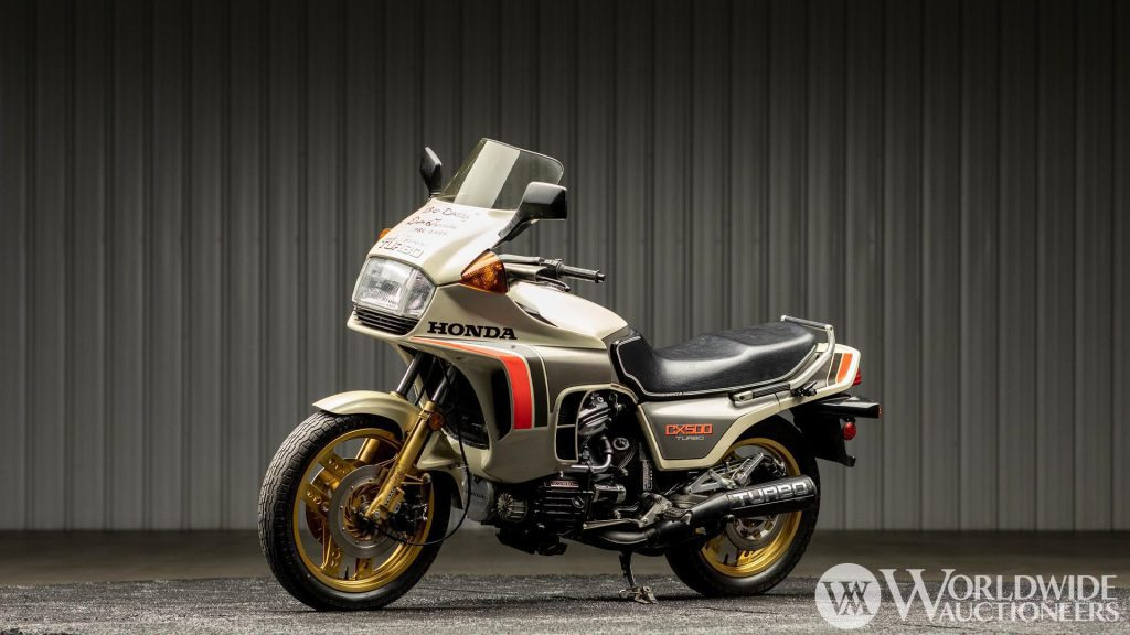 A view of the 1982 Honda CX500TC in Don Garlits's possession