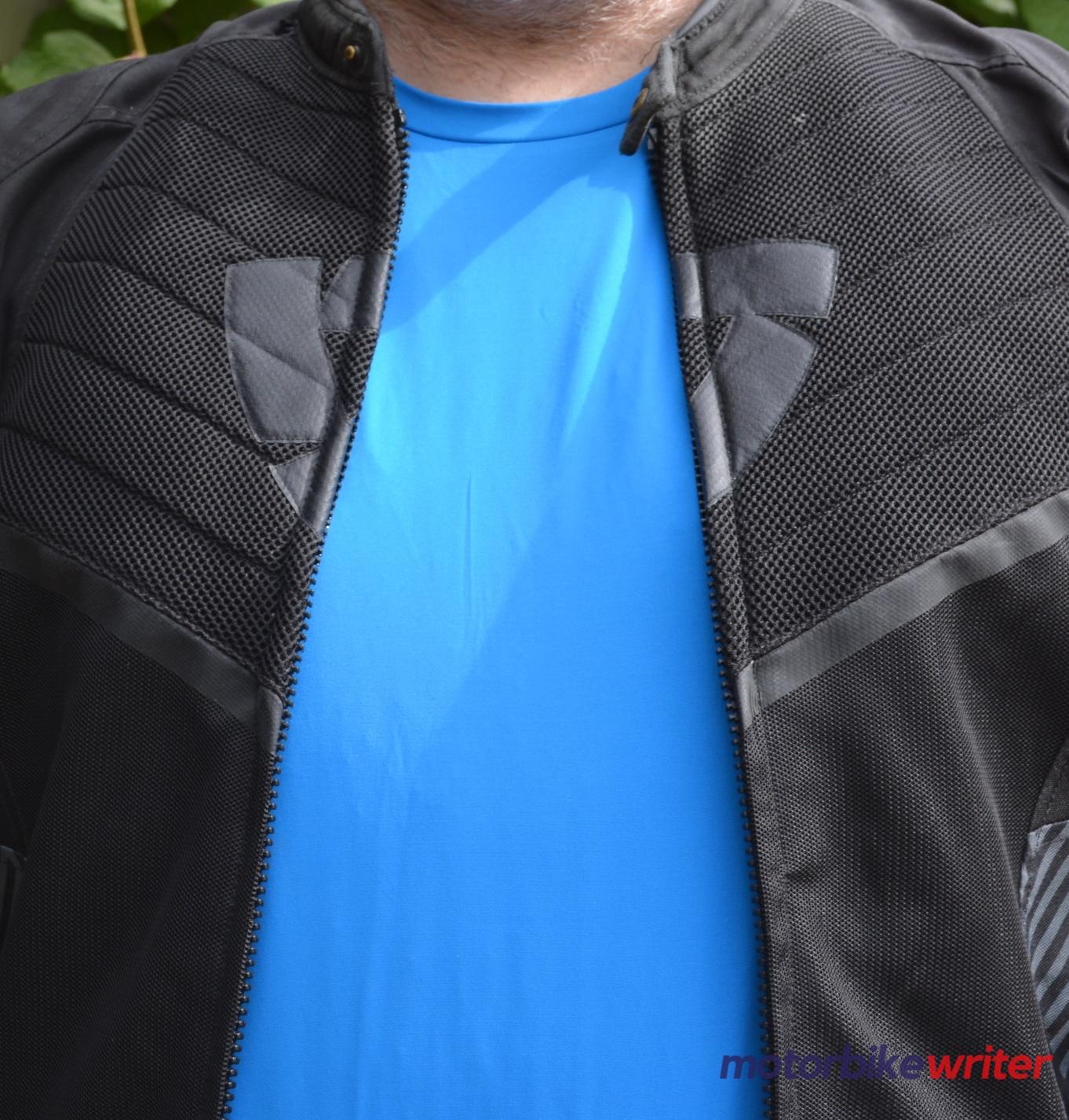 Man wearing black mesh jacket over Fieldsheer Mobile Cooling Long Sleeve shirt