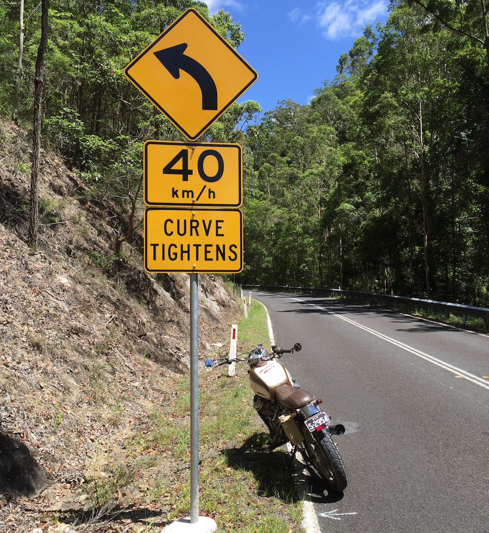 Curve signs - Oxley Highway may set safety standard Austroads read Traffic Sign Recognition (TSR) Signs warnings