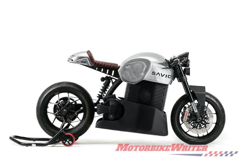 2019 Savic electric motorcycle prototype orders