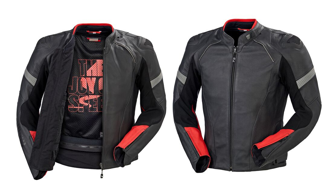 An image of the Rekurv leather jacket
