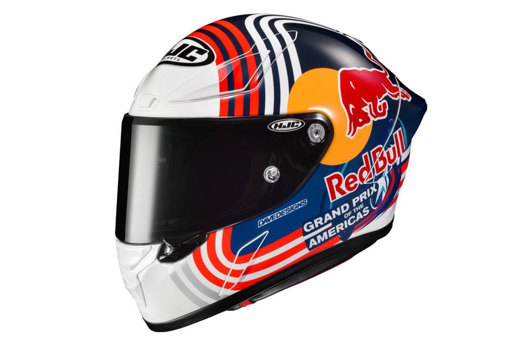 HJC RPHA 1N Red Bull Austin GP helmet