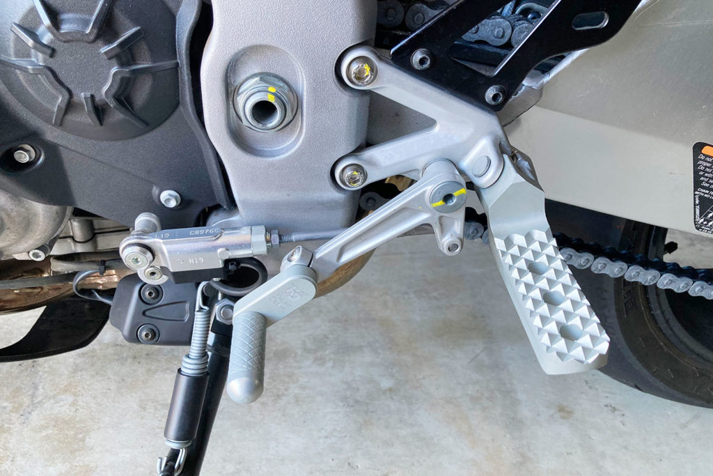 Knight Design lowered footpegs review