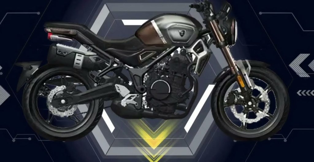 A view of the all-new Voge 350 AC to soon be debuted in China